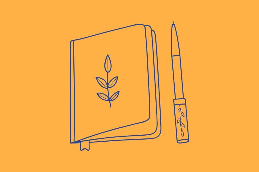 Icon Heft und Stift