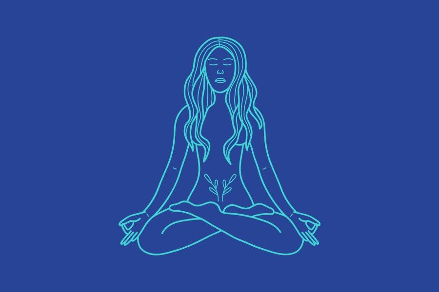 Icon meditierende Frau